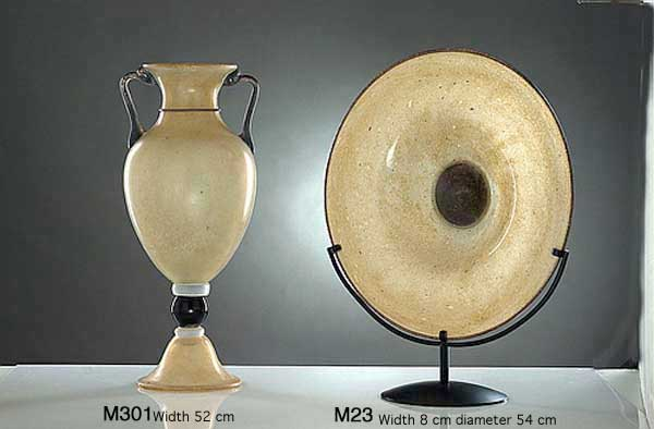 Produzione vaso scavo veneziano M301 lavorazione vetro di Murano originale