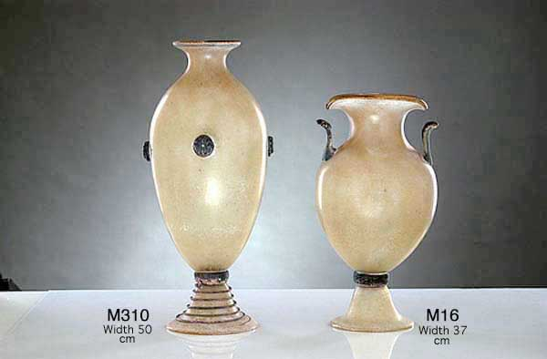 Produzione vaso scavo veneziano M310 lavorazione vetro di Murano originale