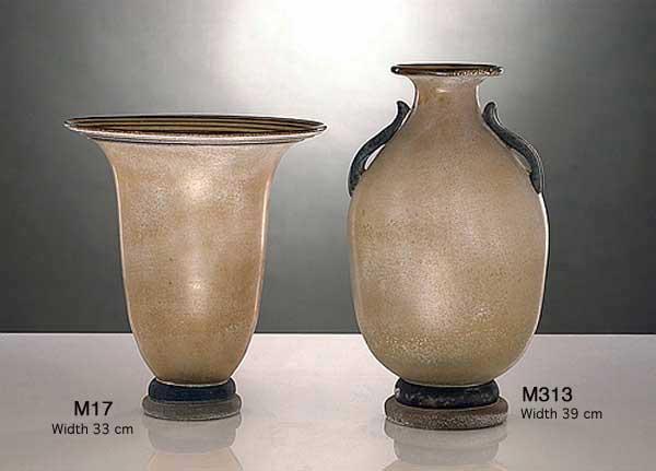 Produzione vaso scavo veneziano M313 lavorazione vetro di Murano originale