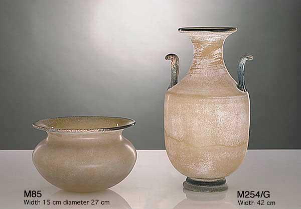Produzione vaso scavo veneziano M85 lavorazione vetro di Murano originale